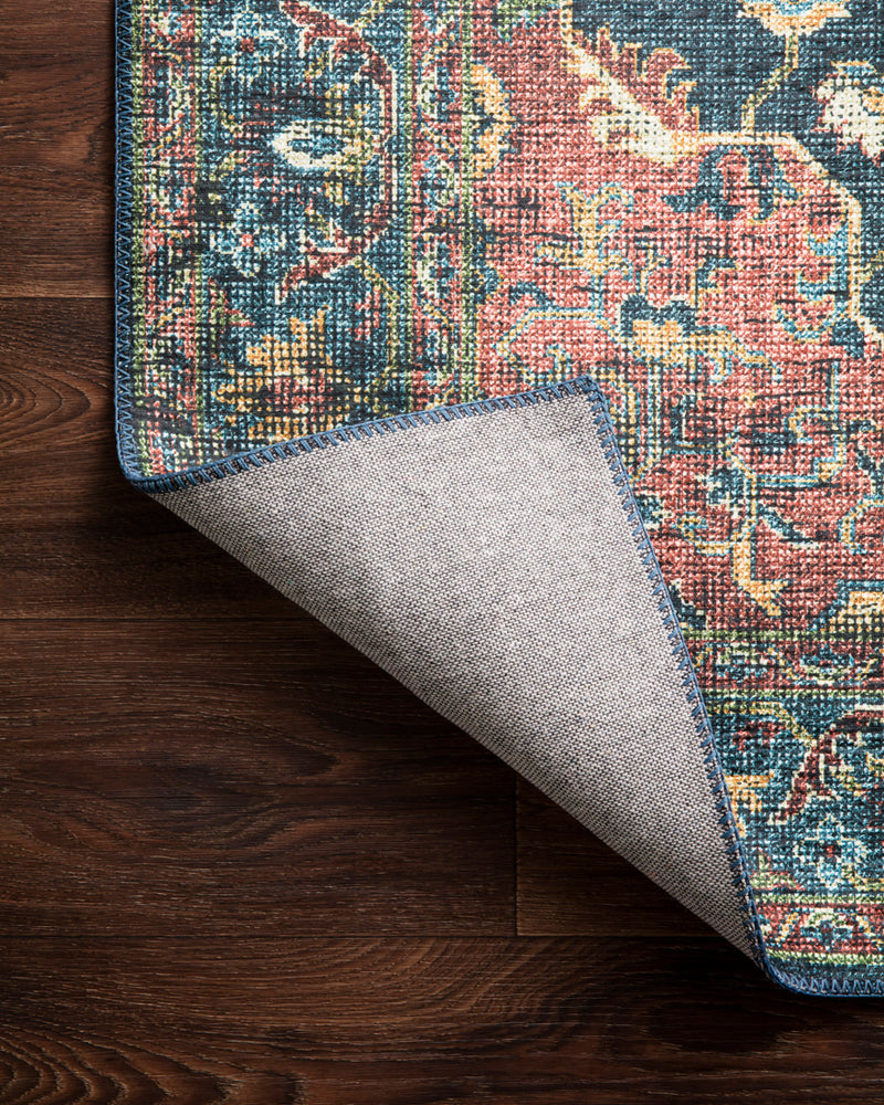 crown and birch liza rug denim brick corner flipped
