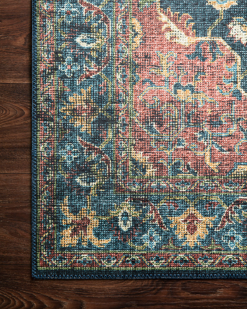 crown and birch liza rug denim brick corner