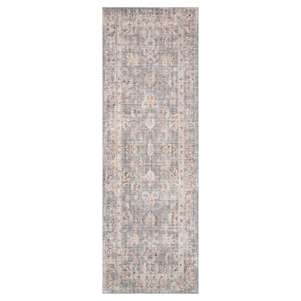 crown and birch liza rug grey apricot runner