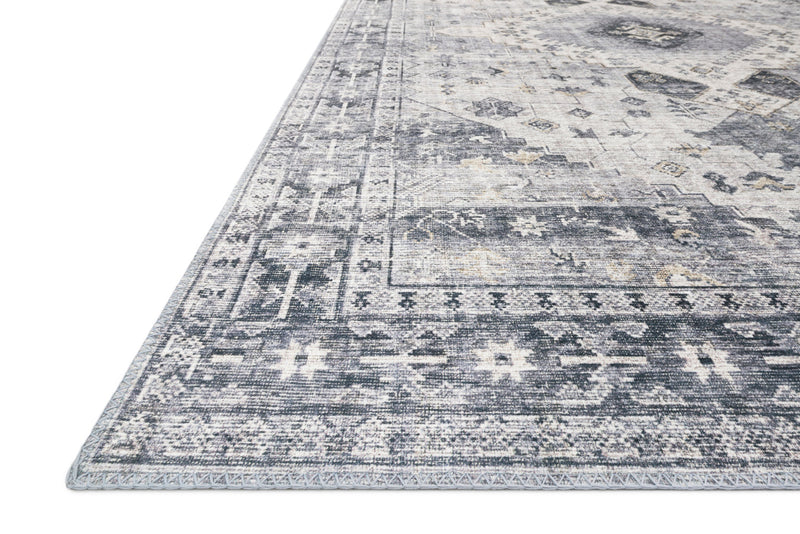 crown and birch liza rug silver grey detail