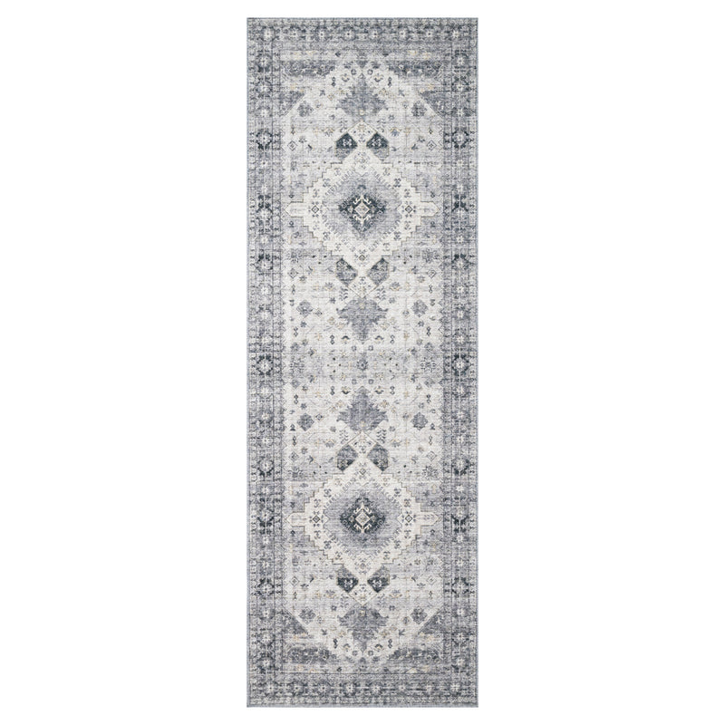crown and birch liza rug silver grey runner