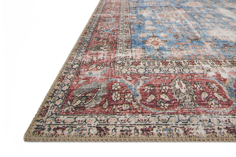 crown and birch lorelei rug blue brick detail