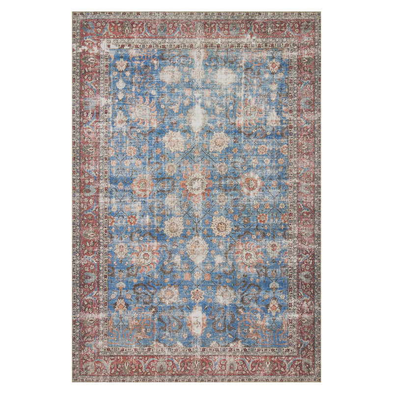 crown and birch lorelei rug blue brick front