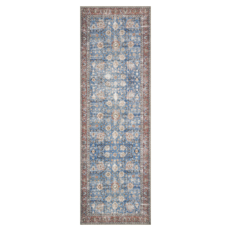 crown and birch lorelei rug blue brick runner