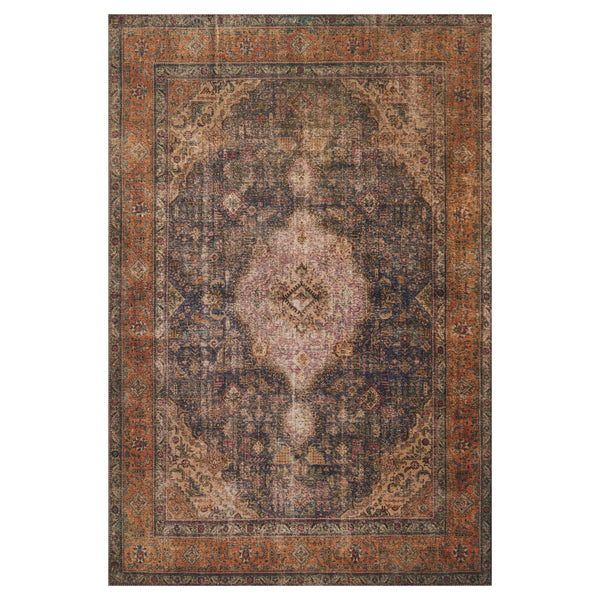 crown and birch lorelei rug plum multi front