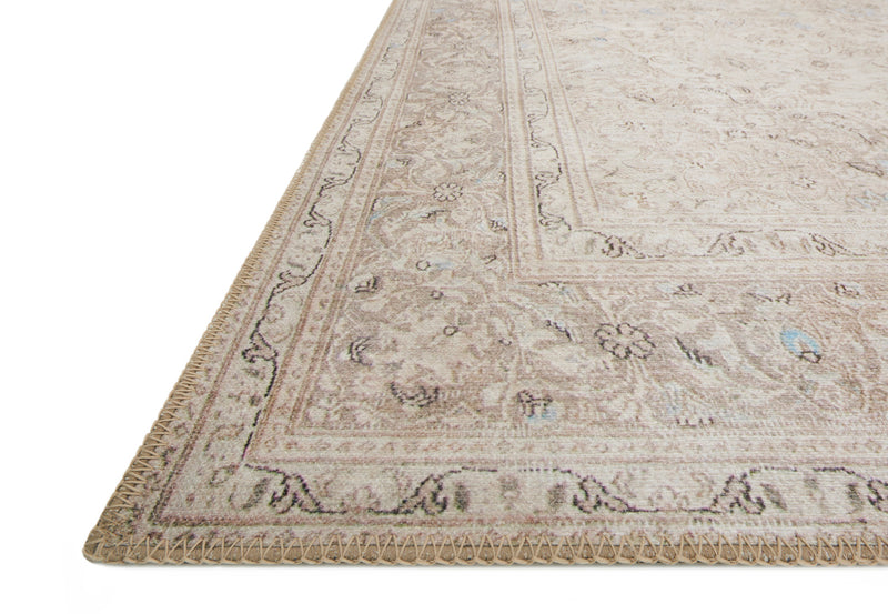 crown and birch lorelei rug sand taupe detail