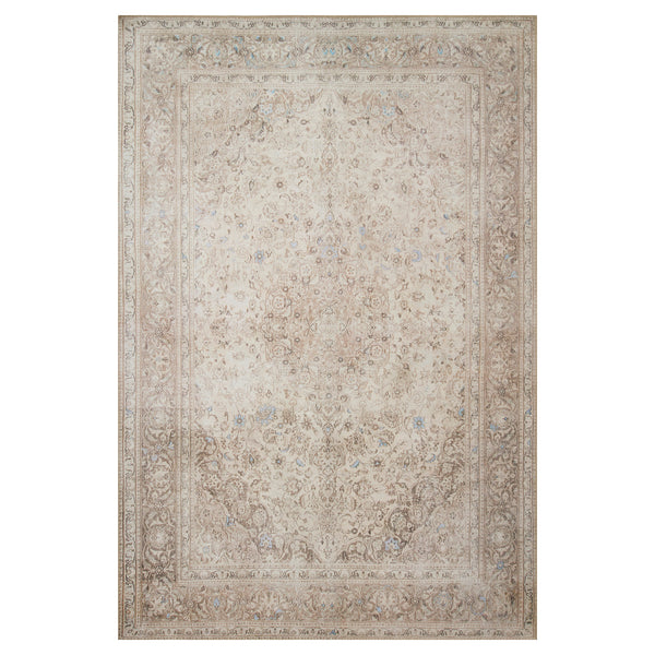 crown and birch lorelei rug sand taupe front