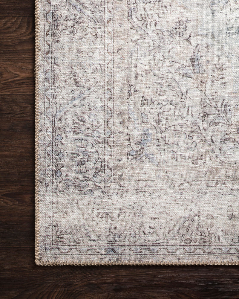 crown and birch lorelei rug silver slate corner