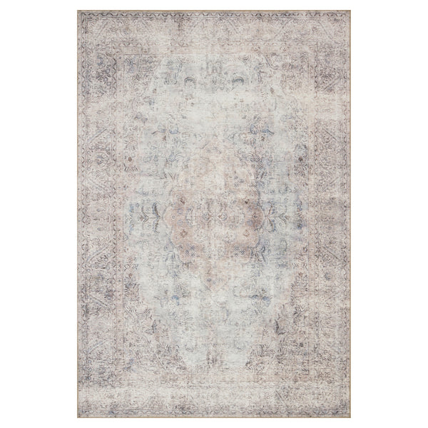 crown and birch lorelei rug silver slate front