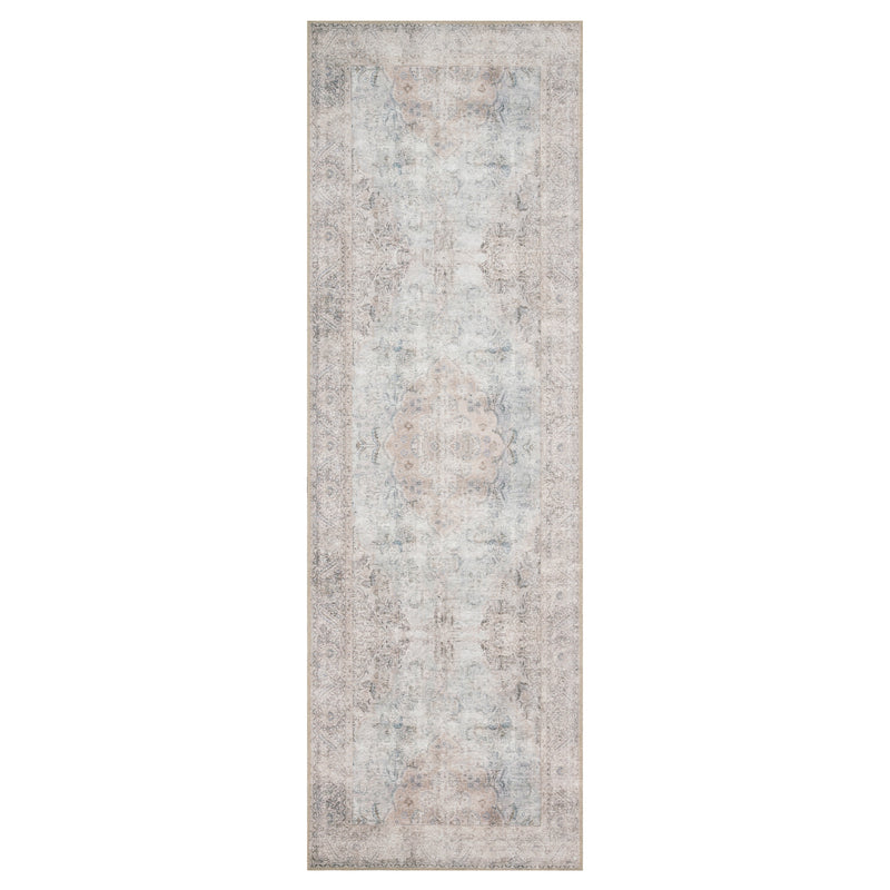 crown and birch lorelei rug silver slate runner