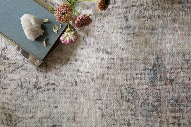 crown and birch lorelei rug silver slate scene detail
