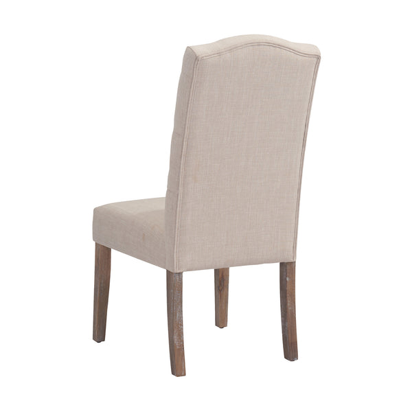 crown and birch lucy dining chair beige back