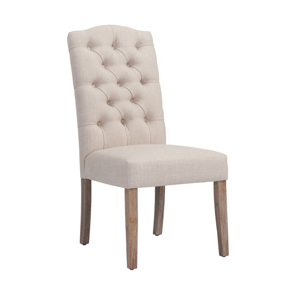 crown and birch lucy dining chair beige front