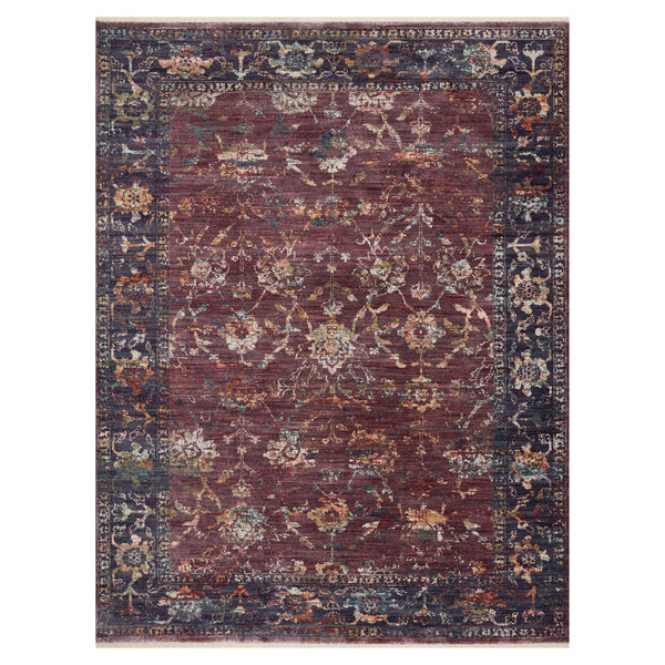 crown and birch maeve rug loloi giada grape multi front