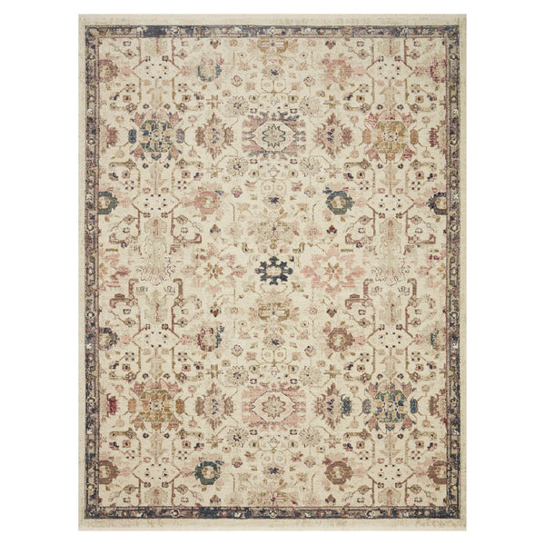 crown and birch maeve rug loloi giada ivory multi front