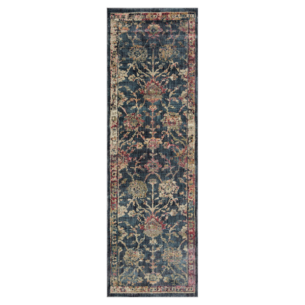 crown and birch maeve rug loloi giada navy multi runner