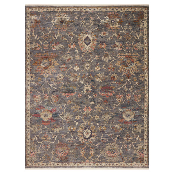 crown and birch maeve rug loloi giada silver multi front