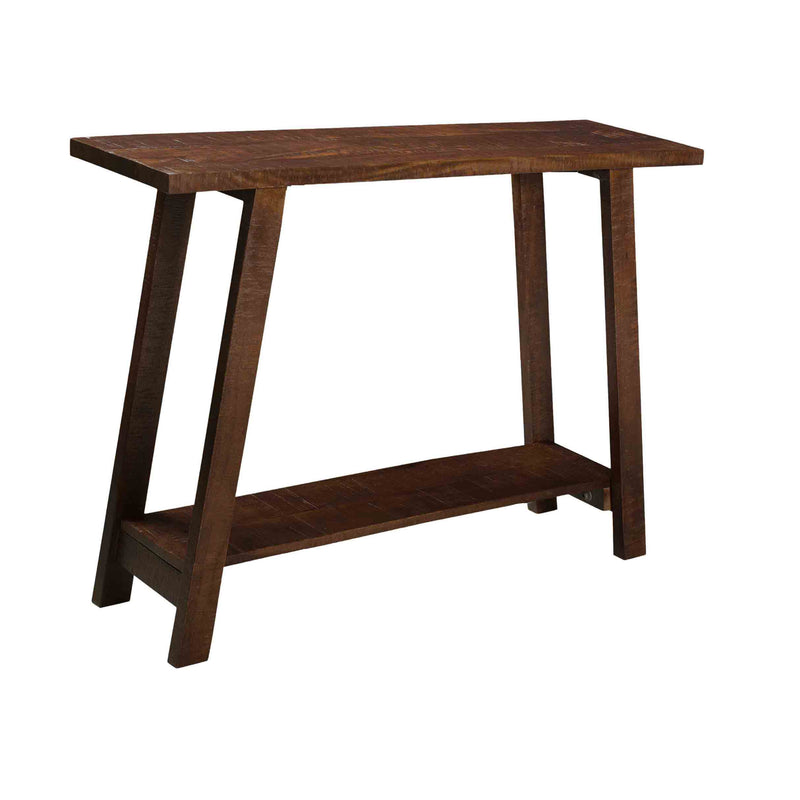 crown and birch mango walnut console angle