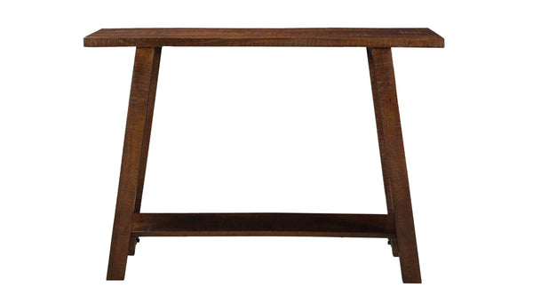 crown and birch mango walnut console front