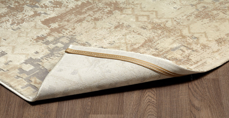 crown and birch mattice rug beige corner