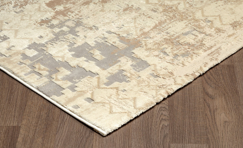 crown and birch mattice rug beige detail