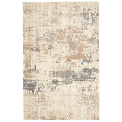 crown and birch mattice rug beige front