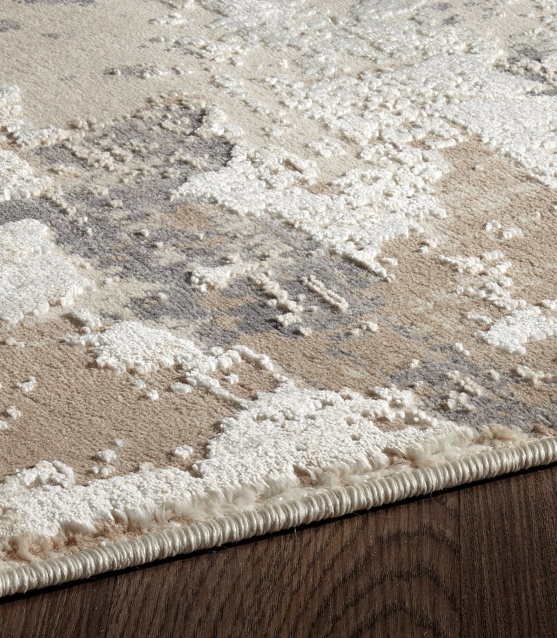 crown and birch mattice rug beige natural detail