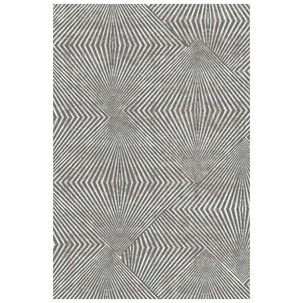 crown and birch mattice rug grey