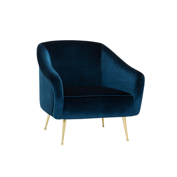 crown and birch megan occasional chair blue angle