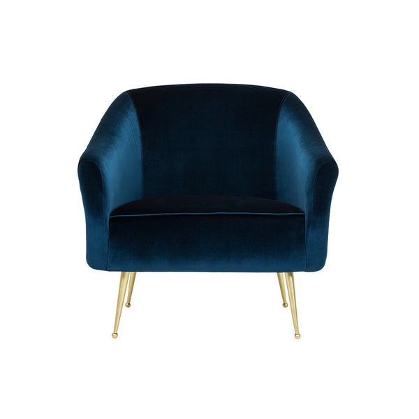 crown and birch megan occasional chair blue front
