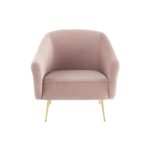 crown and birch megan occasional chair blush front