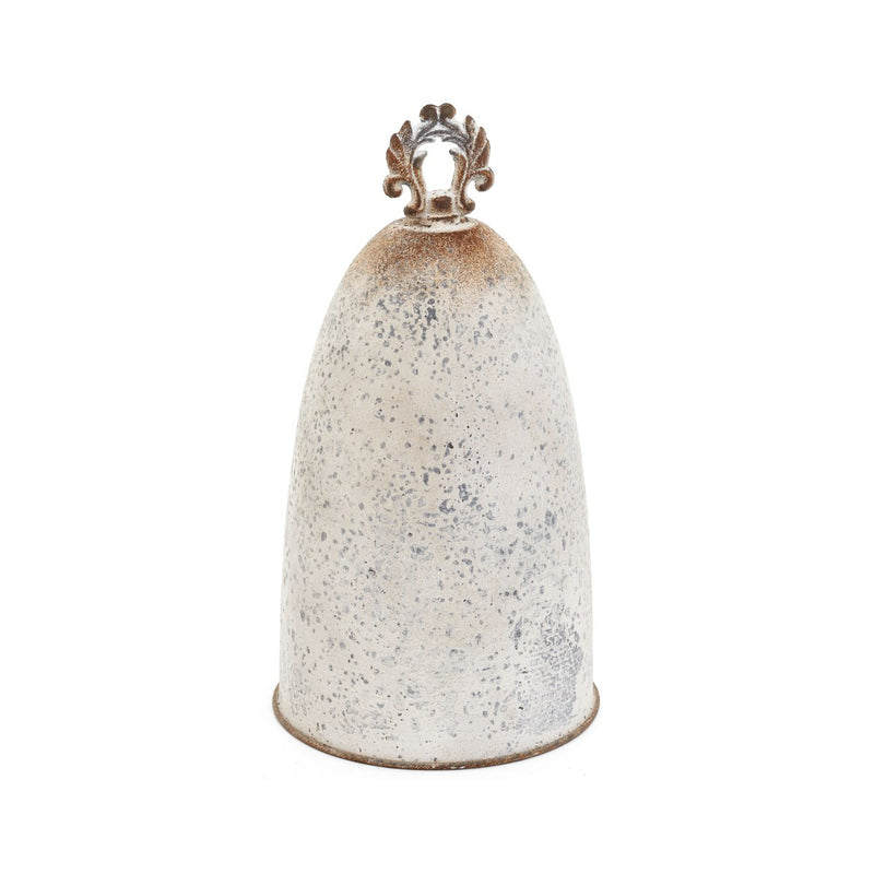 crown and birch metal bell antique cream
