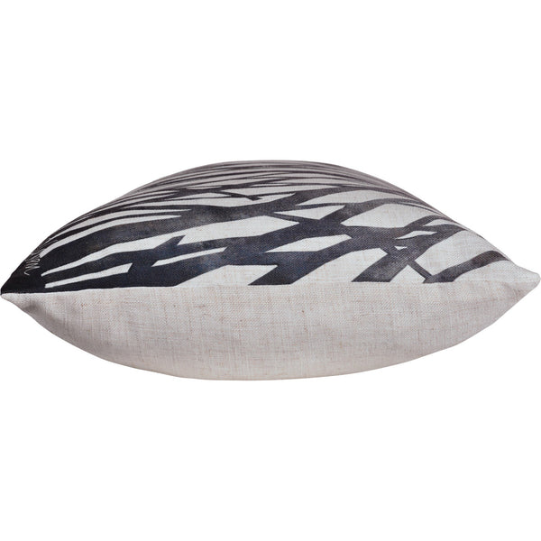 crown and birch miller lumbar grey stripe pillow side