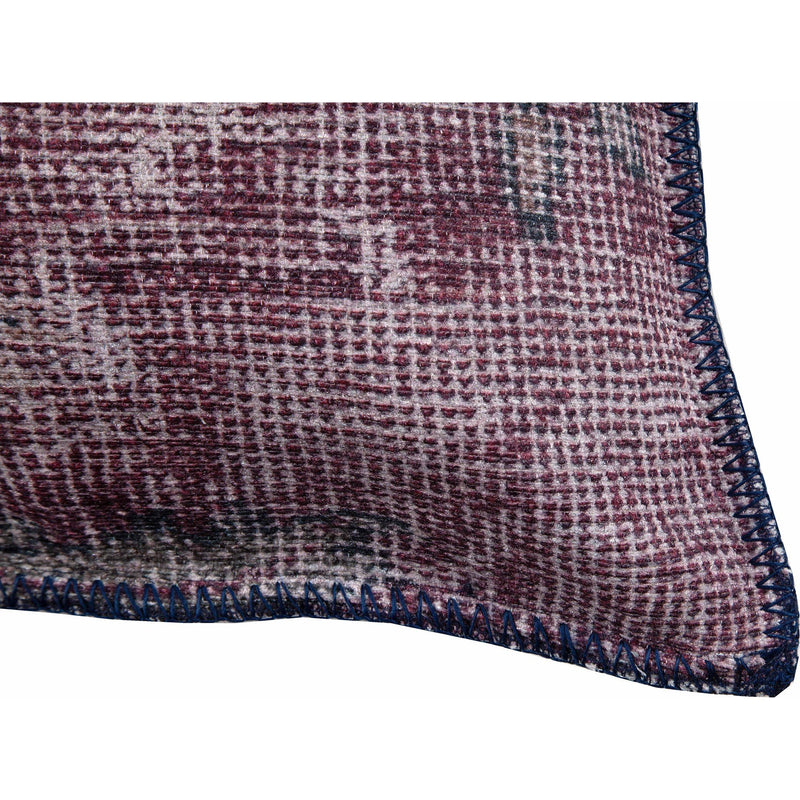 crown and birch mooney burgundy textured pillow corner