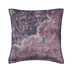 crown and birch mooney burgundy textured pillow front