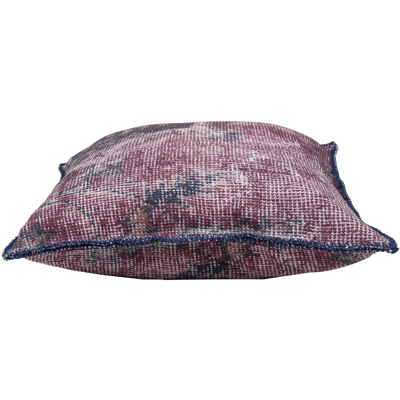crown and birch mooney burgundy textured pillow side