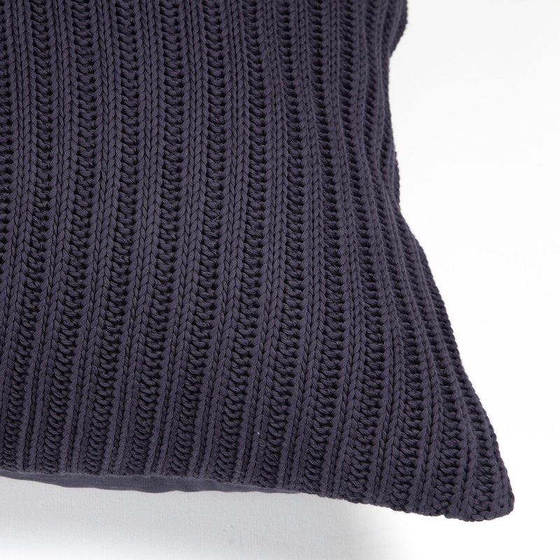 crown and birch nero navy knit pillow corner