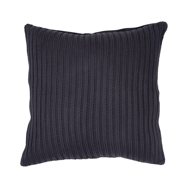 crown and birch nero navy knit pillow front