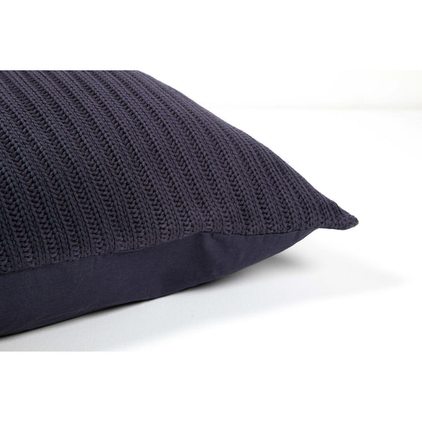 crown and birch nero navy knit pillow side