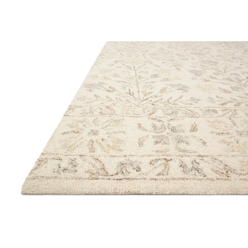 crown and birch nora rug ivory neutral detail