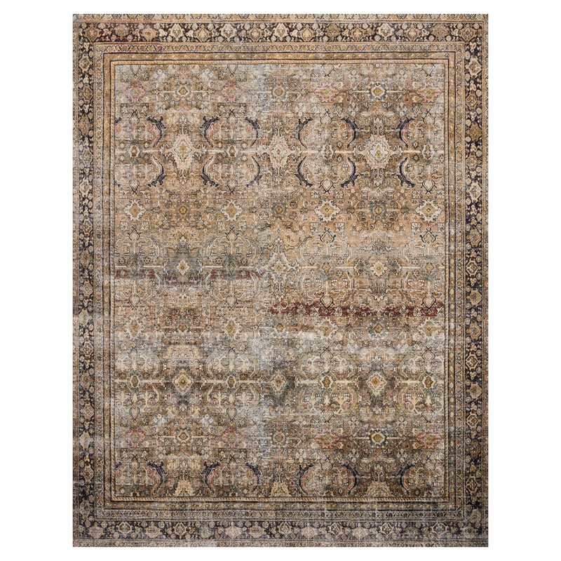 crown and birch leyla rug olive charcoal front