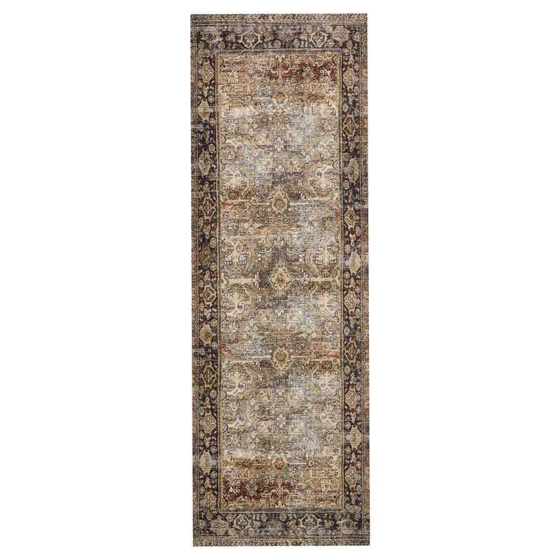 crown and birch leyla rug olive charcoal runner