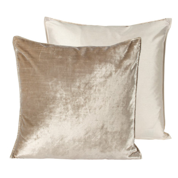 crown and birch oyster cream velvet lumbar cushion back