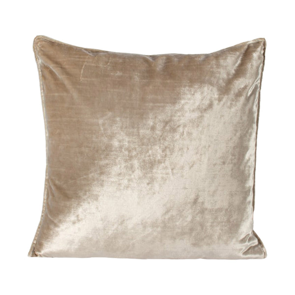 crown and birch oyster cream velvet lumbar cushion front