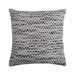 crown and birch paris black white chevron pillow front