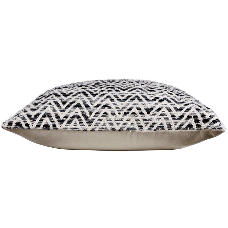crown and birch paris black white chevron pillow side