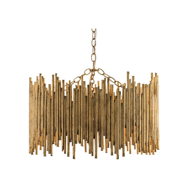 crown and birch percy pendant single tier gold leaf front