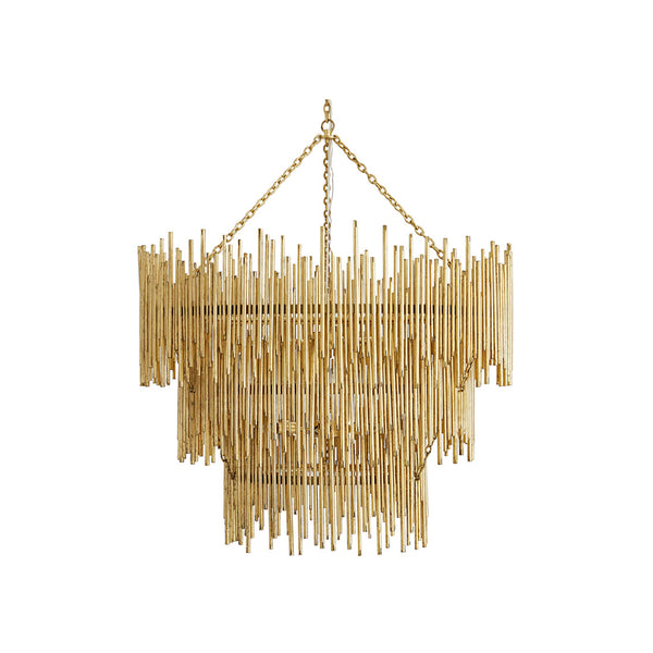 crown and birch percy pendant three tiered gold leaf front
