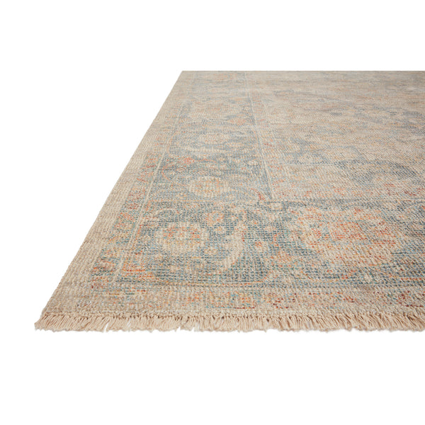 crown and birch prite rug loloi priya bone bluestone detail