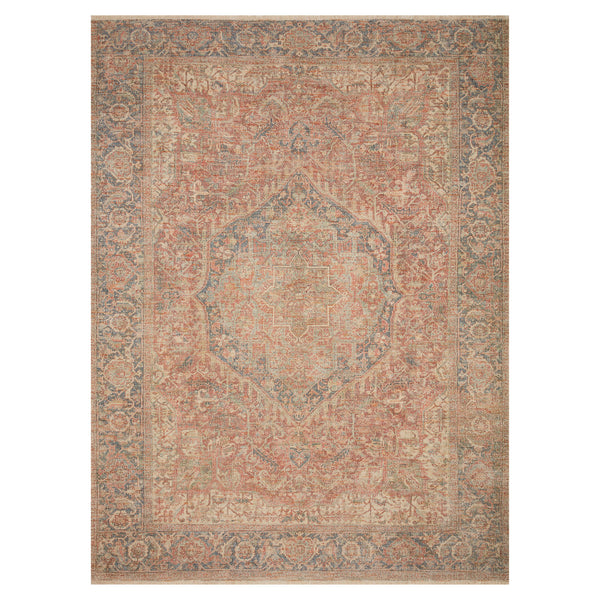 crown and birch prite rug loloi priya brick navy front